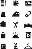 Sewing and fashion flat glyph icons Stock Images