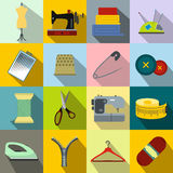 Sewing flat icon Stock Photo