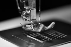 Sewing foot in monochrome Stock Photo