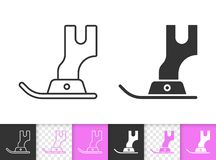 Free Sewing Foot Simple Black Line Vector Icon Royalty Free Stock Images - 125956839
