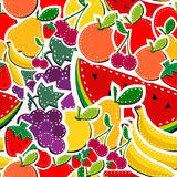 Sewing fruits seamless pattern Royalty Free Stock Images