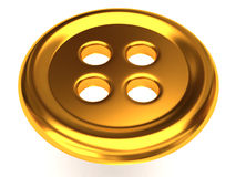 Sewing gold button clothing Stock Photo