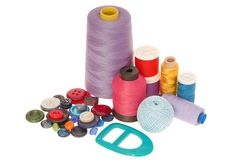 Sewing goods. Are on white Stock Images