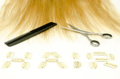 Sewing hair and upgrade Stock Photo