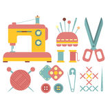 Sewing and Handicraft Accessories Stock Photography