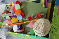 Sewing and handmade materials Royalty Free Stock Images