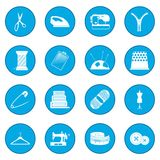 Sewing icon blue. Sewing simple icon blue isolated vector illustration Royalty Free Stock Images