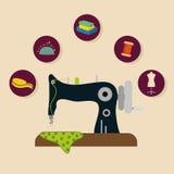 Sewing icon design Stock Photo
