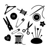 Sewing icon set. Illustration Royalty Free Stock Photography