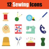 Sewing icon set Royalty Free Stock Images