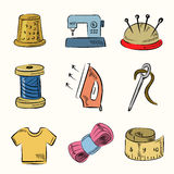 Sewing icon set Stock Photo