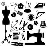 Sewing icon set vector Stock Photos