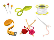 Sewing Icons Royalty Free Stock Images