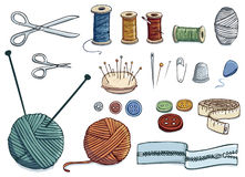Sewing icons Stock Image