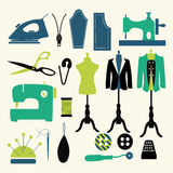 Sewing icons - Illustration Stock Photo