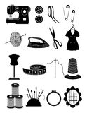 Sewing icons set Royalty Free Stock Photos