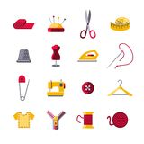 Sewing Icons Set Stock Images