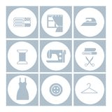 Sewing icons set royalty free illustration