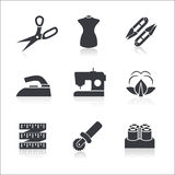 Sewing icons set Royalty Free Stock Image