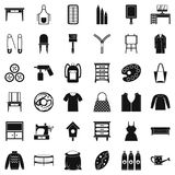 Sewing icons set, simple style. Sewing icons set. Simple set of 36 sewing vector icons for web isolated on white background Stock Images