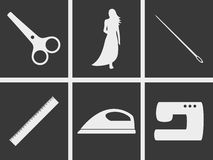 Sewing icons. Set of icons on a theme sewing Royalty Free Stock Photos
