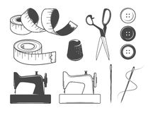 Sewing icons Stock Photography