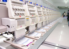 Sewing industry equipment Stock Image