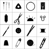 Sewing industry icons Stock Image