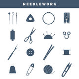 Sewing industry icons Royalty Free Stock Photography