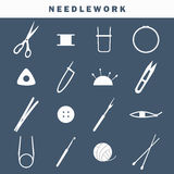Sewing industry icons Royalty Free Stock Image
