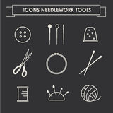 Sewing industry icons Royalty Free Stock Images