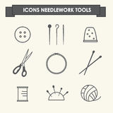 Sewing industry icons Stock Photo