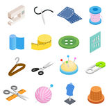 Sewing isometric 3d icon Royalty Free Stock Photos