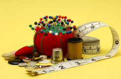 Sewing Items. Various Sewing Related Items Stock Images