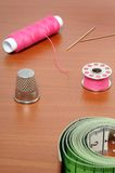 Sewing items Royalty Free Stock Images