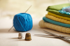 Sewing items. Royalty Free Stock Photos