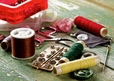 Sewing Items Concept Stock Images