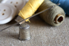 Sewing Items Stock Image
