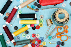 Sewing items Stock Photos