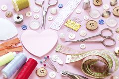 Sewing items stock images