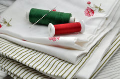 Sewing Items on Textile Stock Images