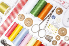 Sewing items Royalty Free Stock Photo