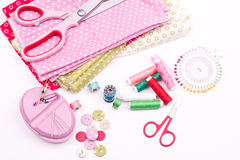 Sewing kit Stock Image