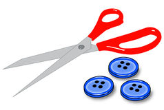 Sewing kit stock illustration
