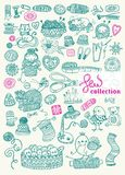 Sewing Kit big collection Stock Photo