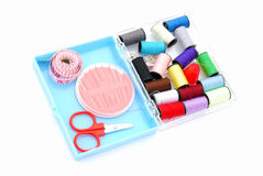 Sewing kit in box Royalty Free Stock Photography