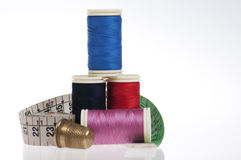 Sewing kit with copy space Stock Photo