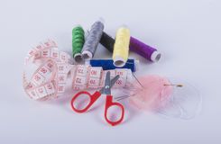 Sewing kit. Image of sewing kit isolated royalty free stock images