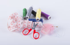 Sewing kit. Image of sewing kit isolated stock image