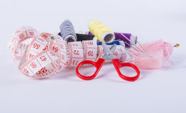 Sewing kit. Image of sewing kit isolated stock photography